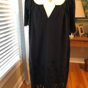Michael Kors Eyelet-Edged black Dress
